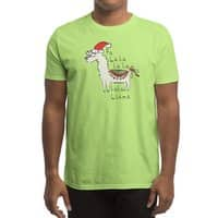 Fa La La La La La Llama - mens-regular-tee - small view