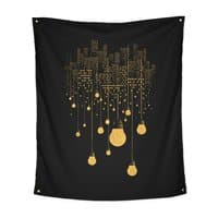The Hanging City (Black Variant) - indoor-wall-tapestry-vertical - small view