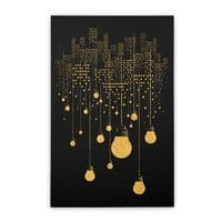 The Hanging City (Black Variant) - vertical-stretched-canvas - small view