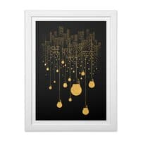 The Hanging City (Black Variant) - white-vertical-framed-print - small view