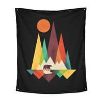 The Great Outdoors (Black Variant) - indoor-wall-tapestry-vertical - small view