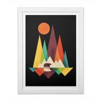 The Great Outdoors (Black Variant) - white-vertical-framed-print - small view