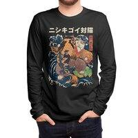The Cat and the Koi (Black Variant) - mens-long-sleeve-tee - small view