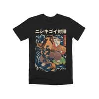 The Cat and the Koi (Black Variant) - mens-premium-tee - small view