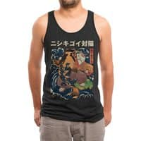 The Cat and the Koi (Black Variant) - mens-triblend-tank - small view