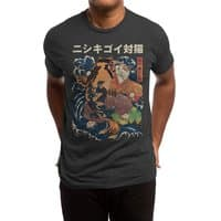 The Cat and the Koi (Black Variant) - mens-triblend-tee - small view