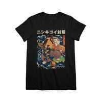 The Cat and the Koi (Black Variant) - womens-premium-tee - small view