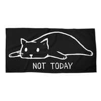 Not Today (Black Variant) - beach-towel-landscape - small view
