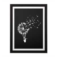 Going Where the Wind Blows (Black Variant) - black-vertical-framed-print - small view