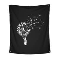 Going Where the Wind Blows (Black Variant) - indoor-wall-tapestry-vertical - small view