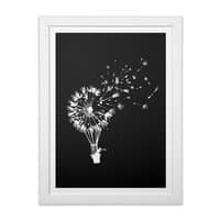 Going Where the Wind Blows (Black Variant) - white-vertical-framed-print - small view