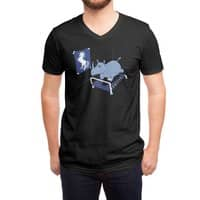 Runnin' Rhino (Black Variant) - vneck - small view