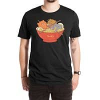 Ramen and cats (Black Variant) - mens-extra-soft-tee - small view