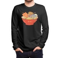 Ramen and cats (Black Variant) - mens-long-sleeve-tee - small view