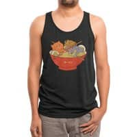 Ramen and cats (Black Variant) - mens-triblend-tank - small view