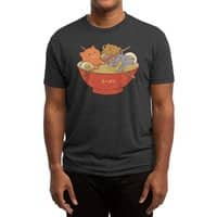 Ramen and cats (Black Variant) - mens-triblend-tee - small view