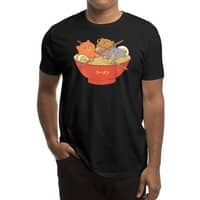 Ramen and cats (Black Variant) - mens-regular-tee - small view