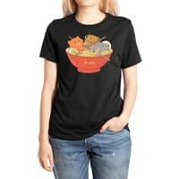 Ramen and cats (Black Variant) - womens-extra-soft-tee - small view