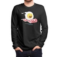 Magic Bacon Ride (Black Variant) - mens-long-sleeve-tee - small view