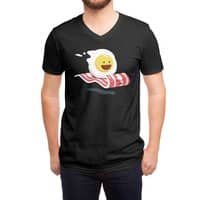 Magic Bacon Ride (Black Variant) - vneck - small view