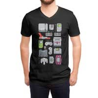 A Pixel of My Childhood (Black Variant) - vneck - small view