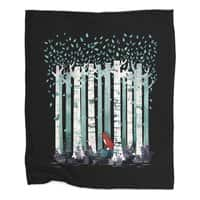 The Birches (Black Variant) - blanket - small view