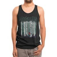 The Birches (Black Variant) - mens-triblend-tank - small view