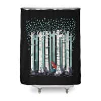 The Birches (Black Variant) - shower-curtain - small view