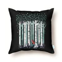 The Birches (Black Variant) - throw-pillow - small view