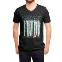 The Birches (Black Variant) - vneck - small view