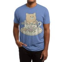Tea cat time - mens-triblend-tee - small view