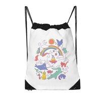 Unicorns! - drawstring-bag - small view