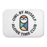 Owl By Myself - bath-mat - small view