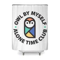 Owl By Myself - shower-curtain - small view