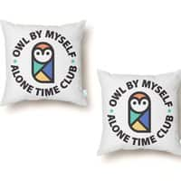 Owl By Myself - throw-pillow - small view