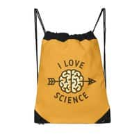 I love science - drawstring-bag - small view