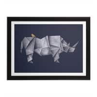 Rhinogami - black-horizontal-framed-print - small view