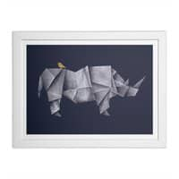 Rhinogami - white-horizontal-framed-print - small view