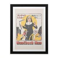 Nunchuck Nun - black-vertical-framed-print - small view