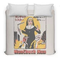Nunchuck Nun - duvet-cover - small view