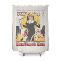 Nunchuck Nun - shower-curtain - small view