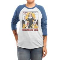 Nunchuck Nun - triblend-34-sleeve-raglan-tee - small view