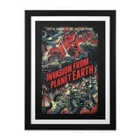 Invasion from planet Earth - black-vertical-framed-print - small view