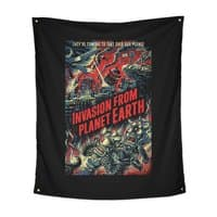 Invasion from planet Earth - indoor-wall-tapestry-vertical - small view