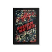 Invasion from planet Earth - vertical-mounted-aluminum-print - small view