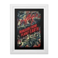 Invasion from planet Earth - white-vertical-framed-print - small view