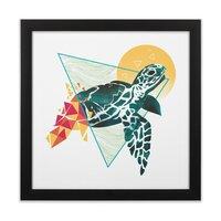 Geometric Turtle - black-square-framed-print - small view