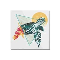Geometric Turtle - square-mounted-acrylic-print - small view