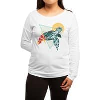 Geometric Turtle - womens-long-sleeve-terry-scoop - small view