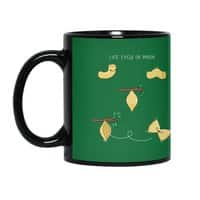Life cycle of pasta - black-mug - small view
